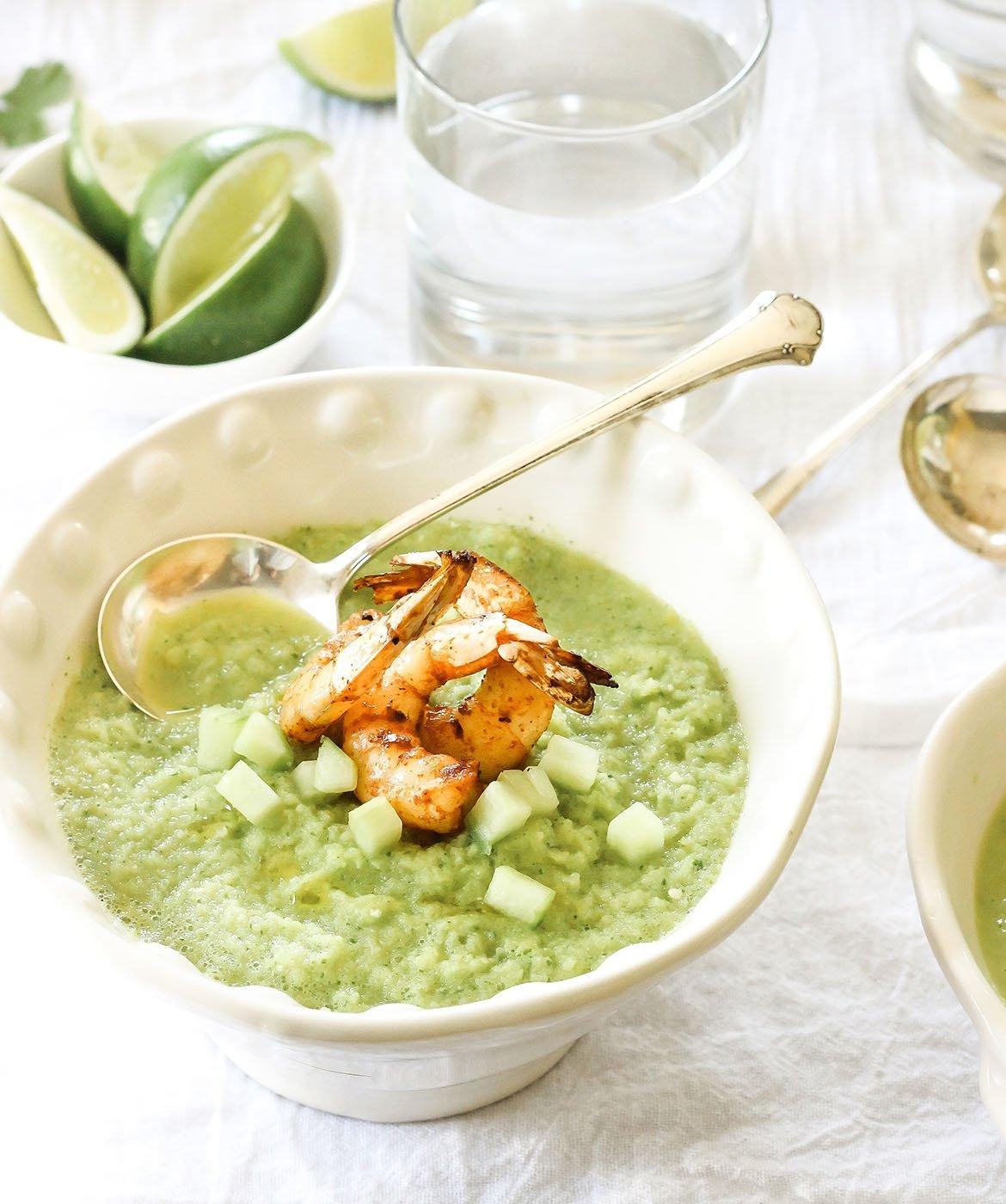 zuppa con i gamberi